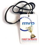 First In Math MVP Badge & Lanyard