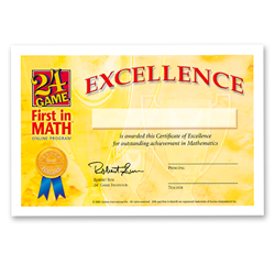 FIM® Certificate of Excellence-Set of 30