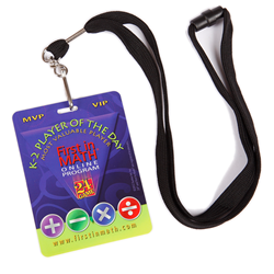 FIM K-2 Player of the Day Badge & Lanyard